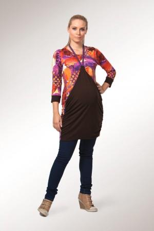 Grecian tunika, oranžno-rjava